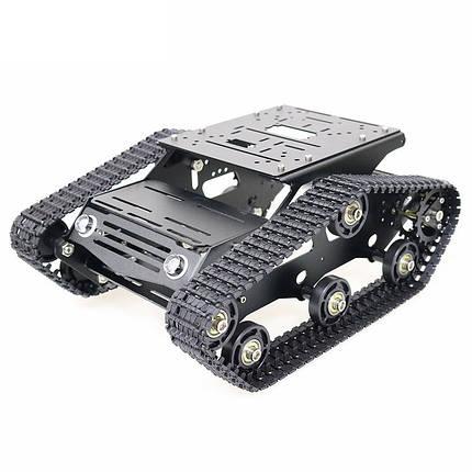YP100 Wifi/Bluetooth Версия Black Metal с подвижным шасси Танковая гусеница Авто Набор + 2шт. 12В 300 об / мин DC Мотор с датчиком Холла - 1TopShop, фото 2