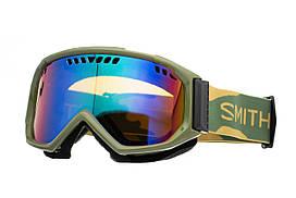 Маска гірськолижна Smith Scope Green Sol-X mirror Khaki