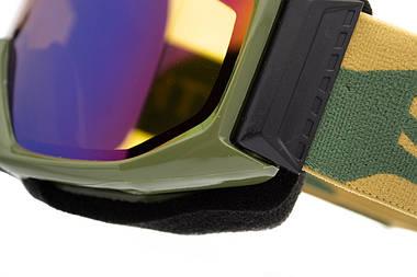 Маска гірськолижна Smith Scope Green Sol-X mirror Khaki, фото 3