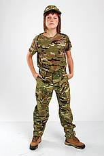 Брюки военные детские камуфляжные для мальчиков Киборг камуфляж MTP, фото 3