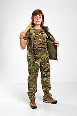 Брюки военные детские камуфляжные для мальчиков Киборг камуфляж MTP, фото 2