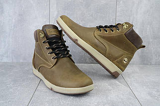 Мужские ботинки кожаные зимние оливковые Yuves 772 Oliv, фото 3