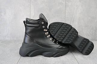 Женские ботинки кожаные зимние черные Viktoria 003, фото 3