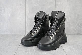 Женские ботинки кожаные зимние черные Viktoria 003, фото 2