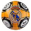Мяч футбольный РЕАЛ МАДРИД REAL MADRID 5 размера для улицы сшитый вручную оранжевый (СМИ GR4-455M/5)