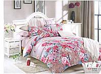 Постельное белье с розовыми цветами с люкс сатина