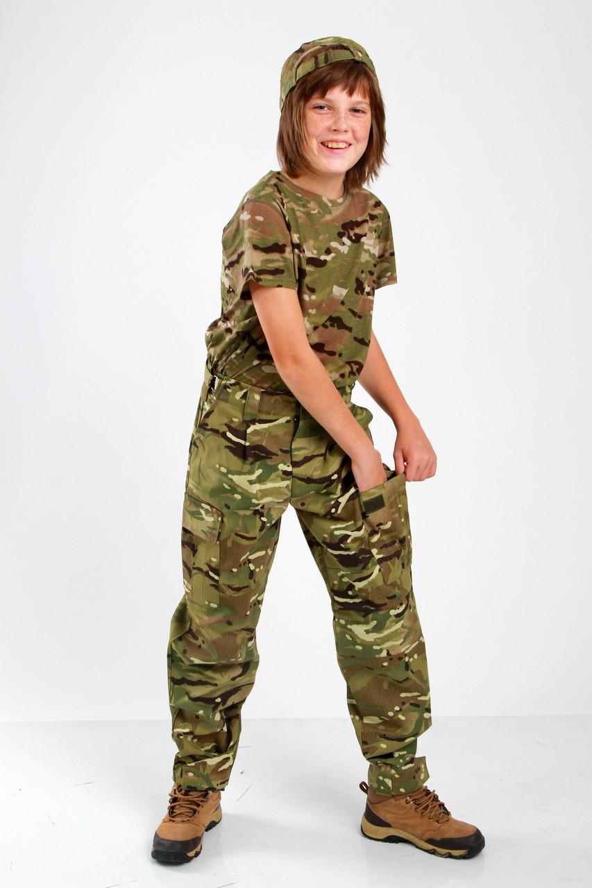 Брюки военные детские камуфляжные для мальчиков Киборг камуфляж MTP