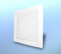 Решетка вентиляционная настенная, квадратная, пластиковая DOSPEL DL/Ø100RW