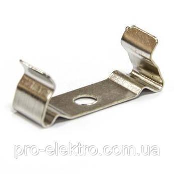 ПФ-25 Профиль широкий накладной полуматовый 2М комплект:4 заглушки с отверстием+4 крепеж металл 1017977, фото 2
