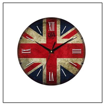 Настенные часы с британским флагом