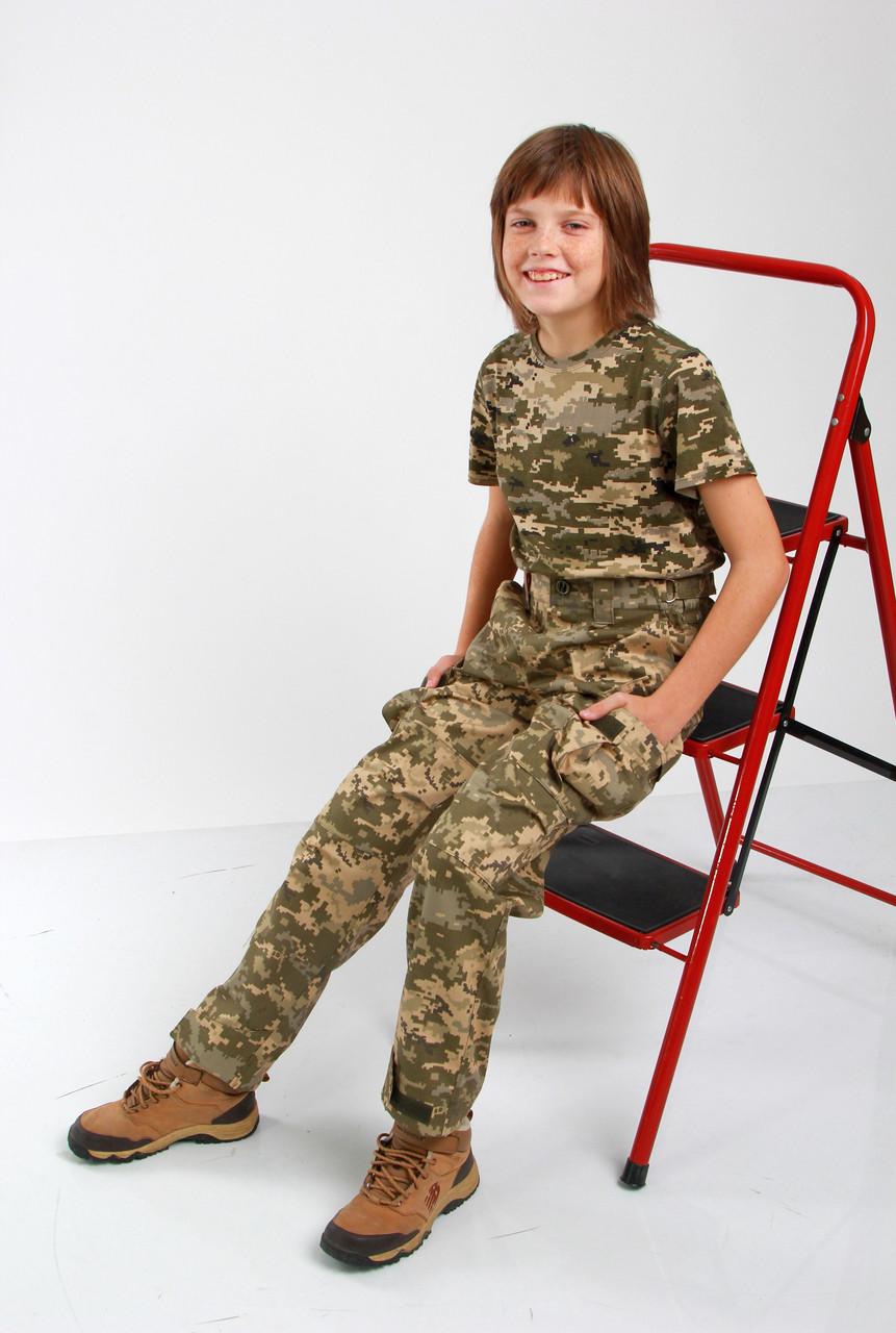 Брюки военные детские камуфляжные Киборг камуфляж Пиксель