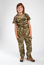 Брюки военные детские камуфляжные Киборг камуфляж Пиксель, фото 3