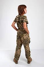Брюки военные детские камуфляжные Киборг камуфляж Пиксель, фото 2