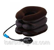 Надувная подушка для шеи Tractors For Cervical Spine (Воротник) Коричневая