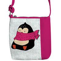 Сумка детская Little princess Пингвин в розовом шарфике (PSD_17NG028_ROZ)