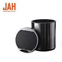 Сенсорное мусорное ведро JAH 20 л круглое черный металлик без внутреннего ведра, фото 1