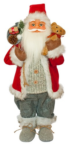 Фигурка новогодняя Санта Клаус, 61 см (Красный / Серый)
