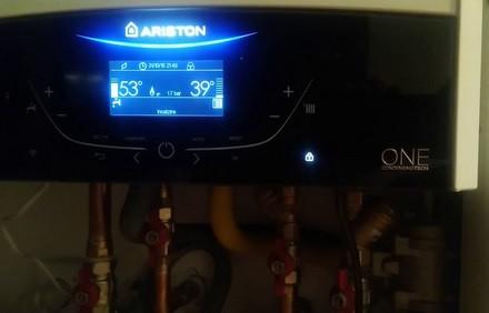 Панель управления настенного котла Ariston GENUS ONE NET 24