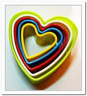 Форма пластм Вырубка Серце  .8,5*3,2см