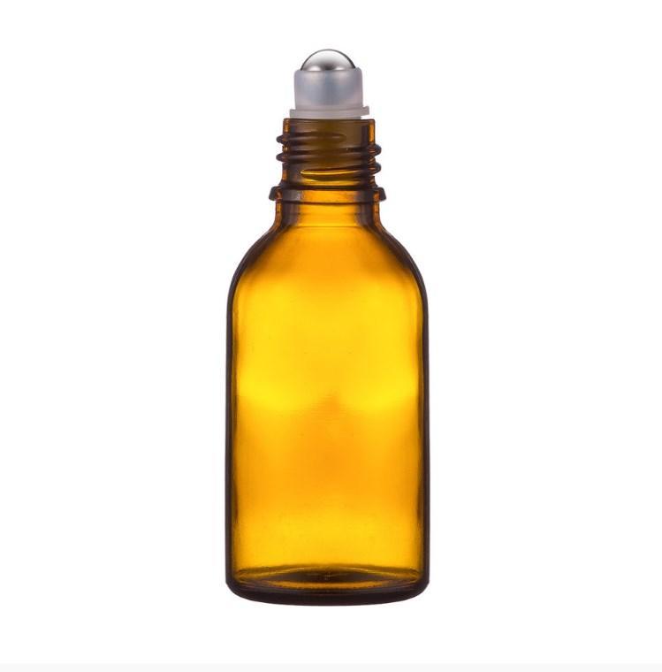 Стеклянный флакон (с шариком +крышка) 30 мл для парфюмерии духов туалетной парфюмированной воды  флакон-роллер