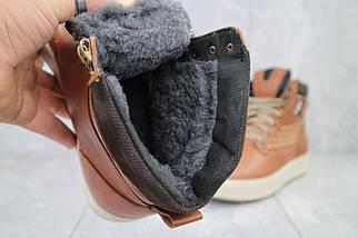 Мужские ботинки кожаные зимние рыжие Vitex 0205, фото 3