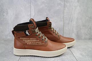 Мужские ботинки кожаные зимние рыжие Vitex 0205, фото 2