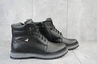 Мужские ботинки кожаные зимние черные Maxus KET 3, фото 2