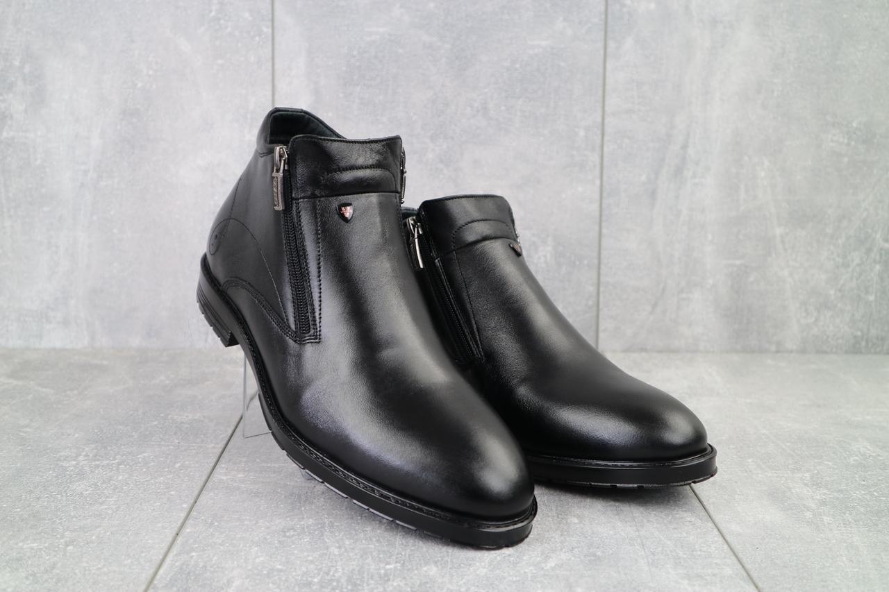 Мужские ботинки кожаные зимние черные Vivaro 135