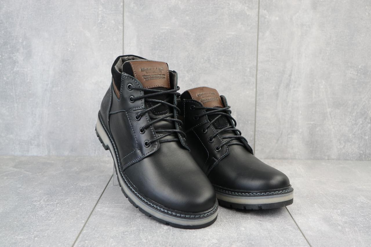 Мужские ботинки кожаные зимние черные Maxus KET 2