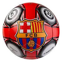 Футбольный мяч БАРСЕЛОНА для улицы 5 размер БАРСА BARCELONA Красный (432FCB3)