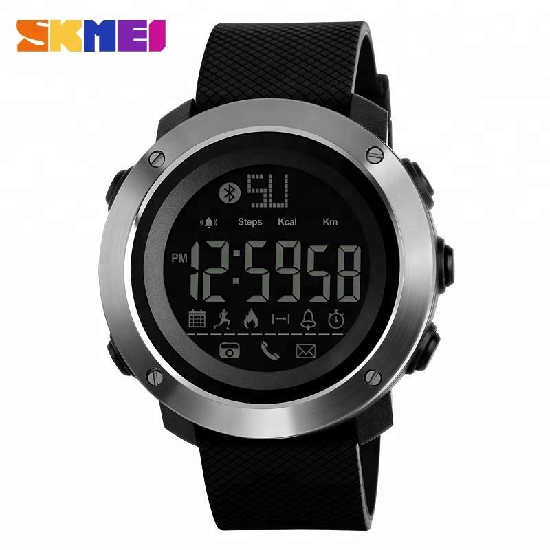 Спортивні годинник Skmei 1287 Large Smart міцні Чорні з сріблястим