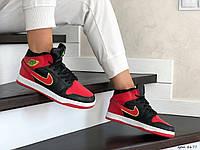 Зимние кроссовки женские подростковые Nike Air Jordan 1 Retro