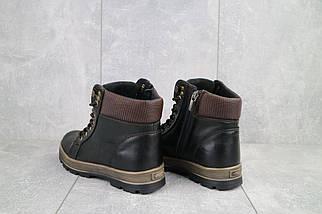 Подростковые ботинки кожаные зимние черные-коричневые GSL 2016, фото 3