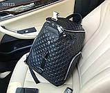 Рюкзак чоловічий Гуччі, шкіряна репліка, фото 4