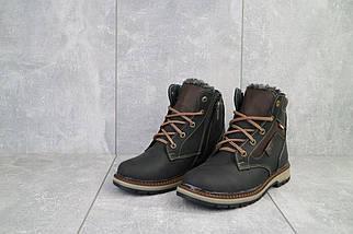 Подростковые ботинки кожаные зимние черные-коричневые Levons 131, фото 2