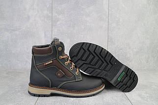 Подростковые ботинки кожаные зимние черные-коричневые Levons 131, фото 3