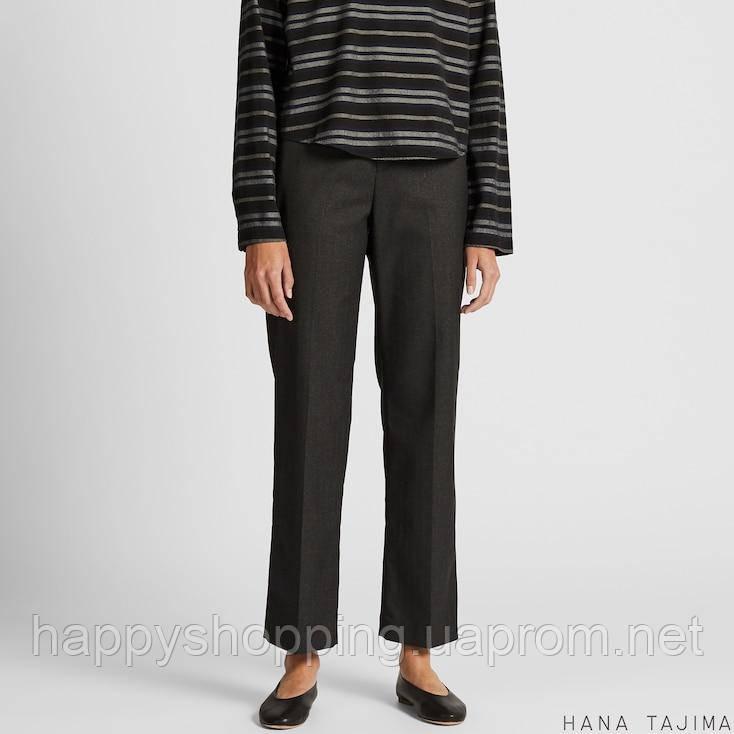 Женские черные брюки прямого кроя с эластичной талией Uniqlo + Hana Tajima (Размер - М)