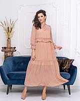 Платье шифоновое воздушное 41185, фото 1