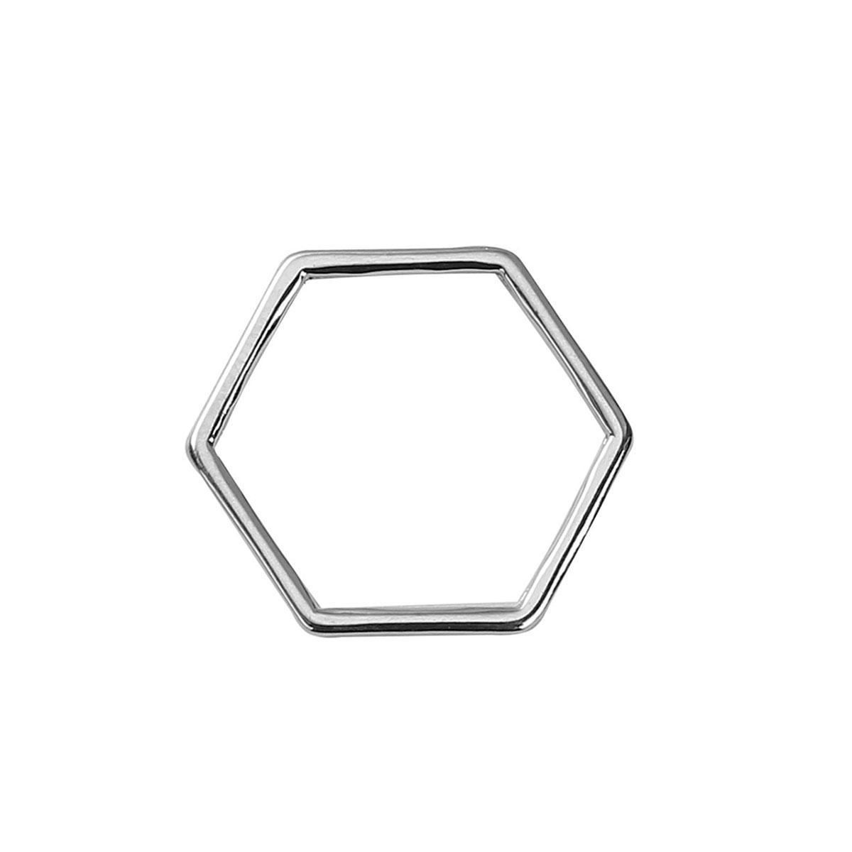 """Коннектор """" Соты """", Цинковый сплав, Цвет: Металл, 11 мм x 10 мм"""