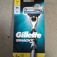 Станок для бритья мужской Gillette Mach 3 (Жиллет Бритва Мак 3 + 2 кассеты Оригинал)