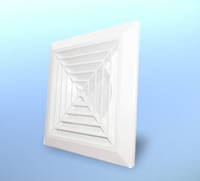Решетка вентиляционная потолочная квадратная, пластиковая DOSPEL KKSØ125