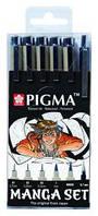 Набор линеров для манга MANGA PIGMA TOOL SET, 6шт., Sakura