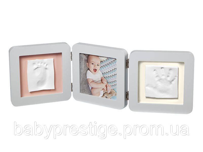 Рамка Baby art для двух гипсовых отпечатков, Пастель