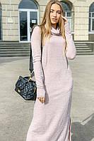 Платье - гольф рубчик теплое макси платье зима 2020 р-ры 42 - 54 Nui very