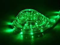 Дюралайт 10м готовый комплект с вилкой, светодиодная гирлянда шланг, цвет зеленый