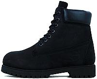 Мужские ботинки Timberland Boots Black без меха, Тимберленд Бутс