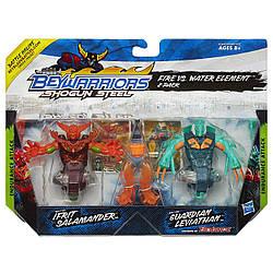 Набор Бейблейд - 2 в 1  Beyblade BeyWarriors Shogun Steel Berserker Ifrit Salamander & Guardian Leviath