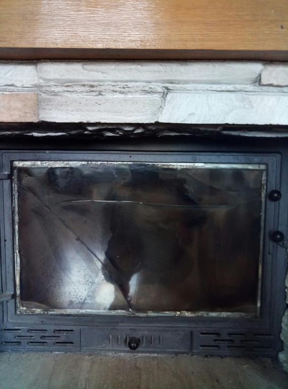Ремонт дверки камина - замена стеклокерамики