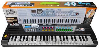 Детский обучающий синтезатор с микрофоном MQ-4919, 49 клавиш