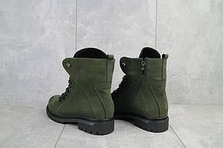 Женские ботинки кожаные зимние зеленые Vikont 7-7-32, фото 2